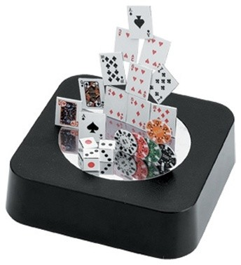 "3.5 Inch ""Card Shark"" Themed Magnetic Desk Organizer, Black - Industrial - Desk Accessories - by ..."
