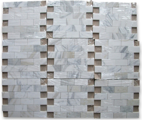 Calacatta Gold 2 x 4 Subway Brick Mosaic Tile Honed - Marble from Italy wall-and-floor-tile