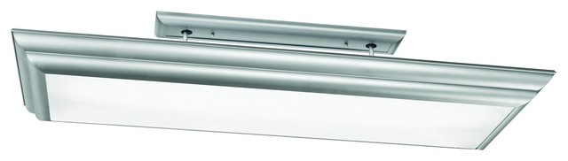 Kichler Chella Overhead Linear Fluorescent Light Fixture in Silver Various eclectic-ceiling-lighting