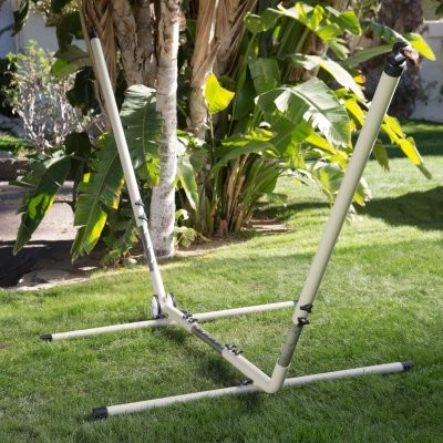 Island Bay Adjustable Hammock Stand with Wheels modern-hammocks-and-swing-chairs