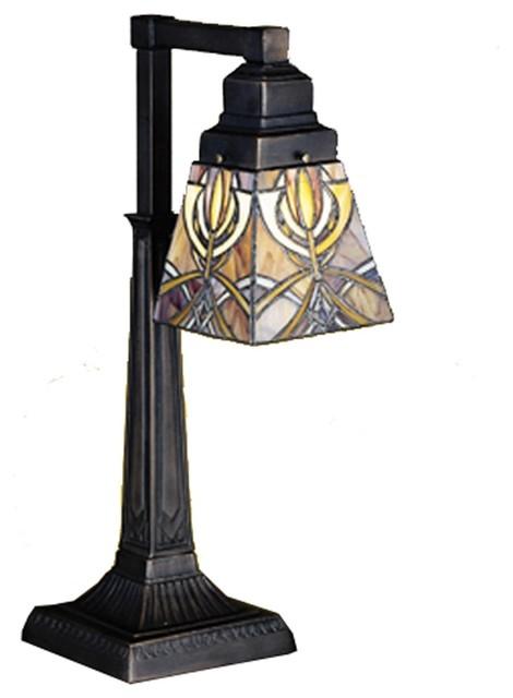 Meyda Tiffany Lamps Desk Lamp in Mahogany Bronze craftsman-table-lamps