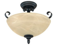 Designers Fountain 82811 Del Amo Semi-Flush Light in Burnished Bronze Finish modern-ceiling-lighting