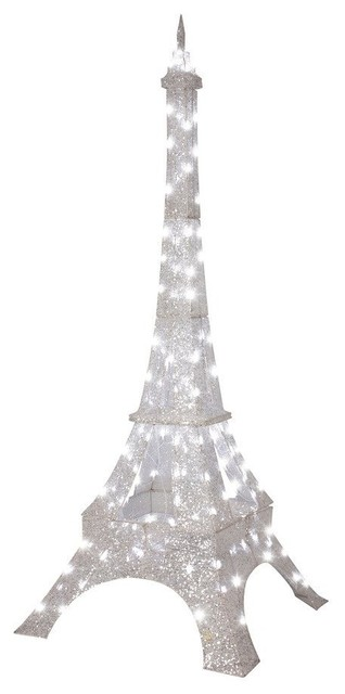 Gemmy Crystal Eiffel Tower Outdoor Twinkling LED Christmas Decoration contemporary-outdoor-holiday-decorations