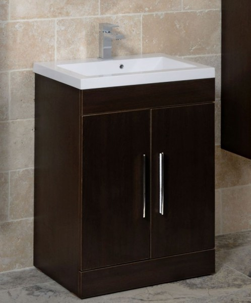 Adiere Vanity Unit Wenge Contemporary Bathroom