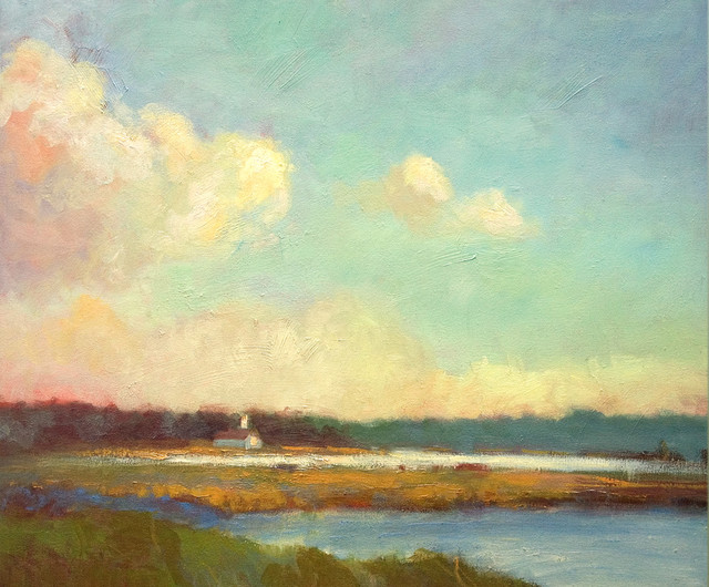 Evening Mystery, Landscape Painting contemporary-artwork