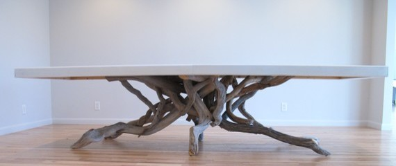 Float Dining Table By benforgeydotcom eclectic dining tables