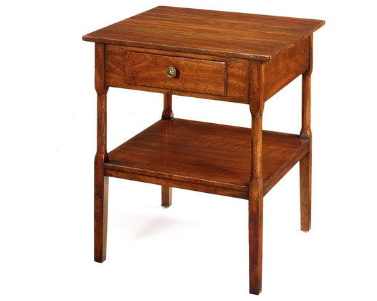 No. 32 Side Table, Cherry, Pearwood Finish -