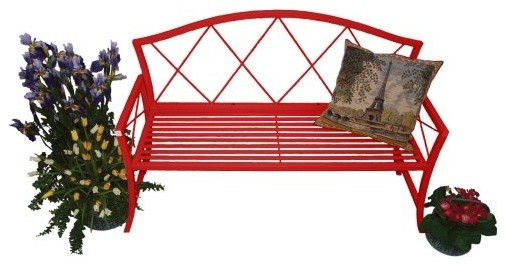 Designed for indoor or outdoor use the Austram Splash Bench - Red will make a lo contemporary benches