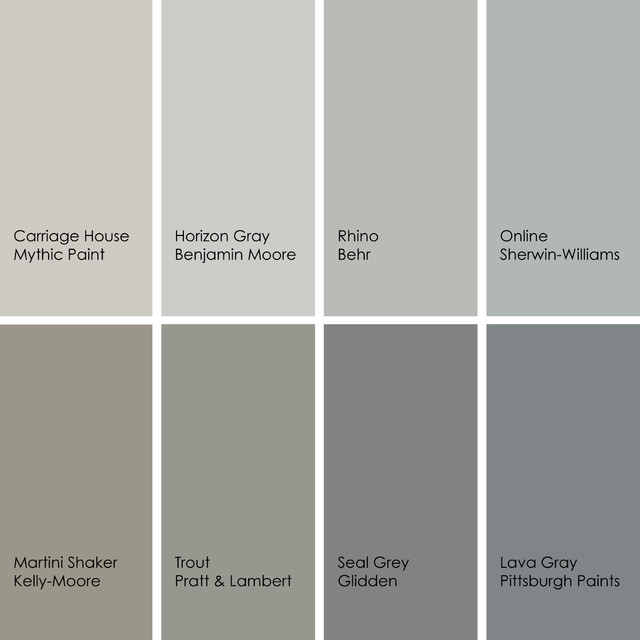 Best gray paint colors designers use most beautiful for Grey white paint colors