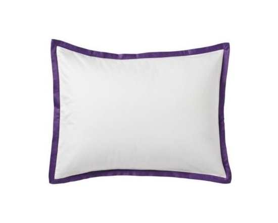 Royal Purple Border Frame Standard & King Sham