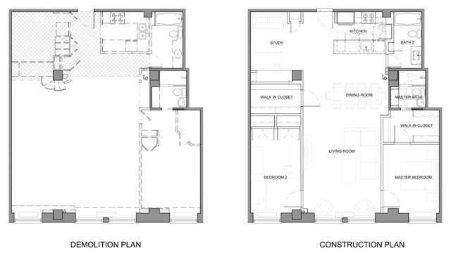 Union Square Loft Modern Floor Plan