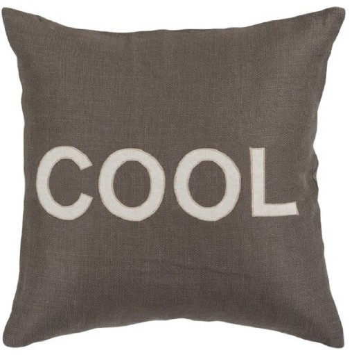 39 cool 39 text decorative throw pillow charcoal gray and for Cool couch pillows