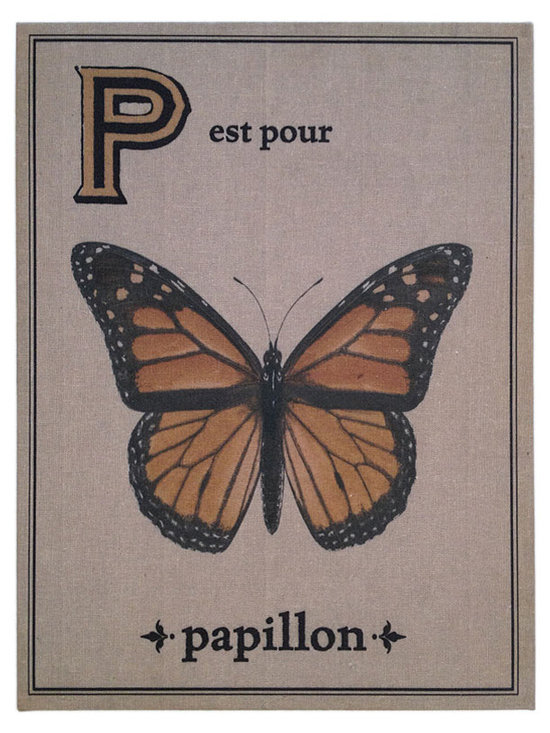 Floating Circus Papillon French Flash Card Art