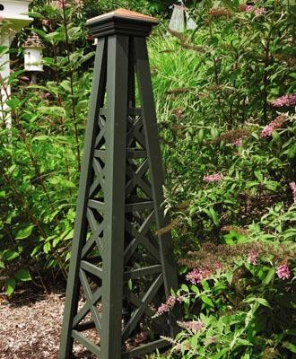 Lattice Obelisk with Copper Top traditional-garden-statues-and-yard-art