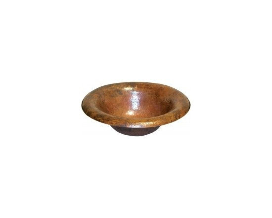 "Maestro Ananda in Tempered - Maestro Ananda in Tempered Full Specifications: 15 gauge hammered copper. 1.5 In. drain. IAPMO listed/ cUPC certified. Post-consumer recycled copper. Width: 15 3/4"" Height: 5"" Finish:Tempered Copper"
