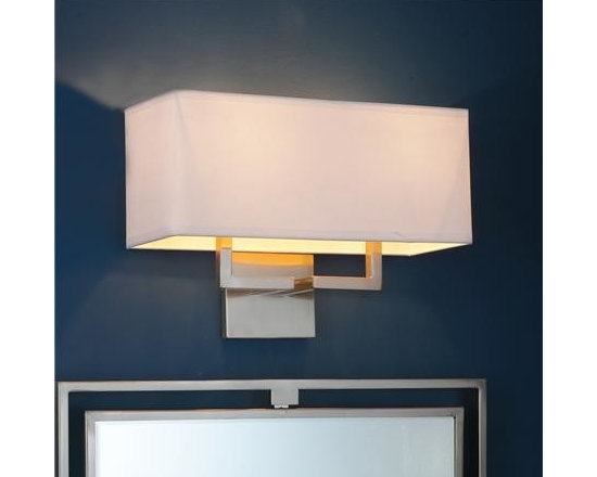Bath lighting with classic clean lines -