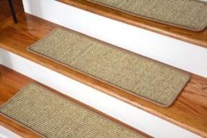 Dean Attachable Non Skid Sisal Carpet Stair Treads
