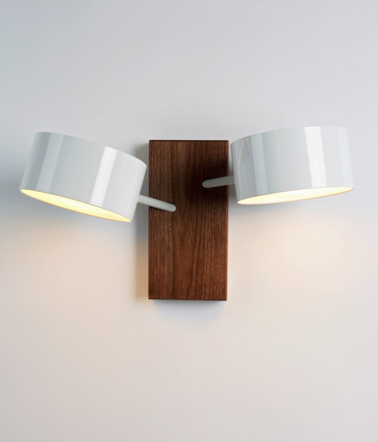 Excel Double Sconce - White contemporary-wall-lighting