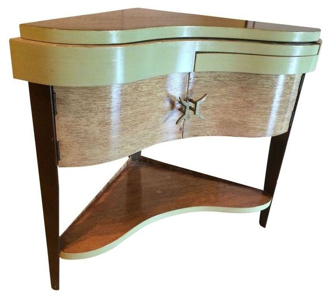Vintage Italian Corner Bar Side Table Mediterranean