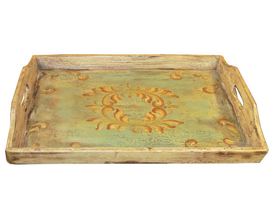 Accessory Trays - The Koenig Collection has skilled craftsmen that hand craft every piece and master artists that hand painted every piece using techniques unique to them, some inherited from their families and influenced by the Spanish during the colonization of Peru. See more at www.KoenigCollection.com