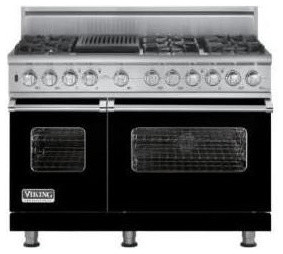 Viking 48 Custom Sealed Burner Dual Fuel Range Black