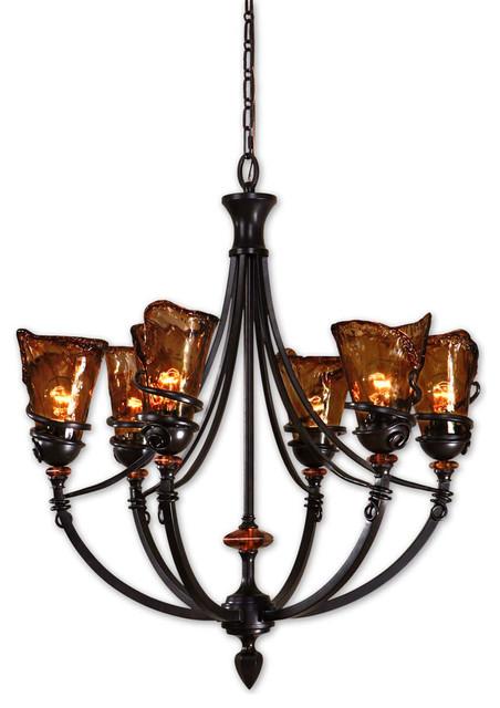 Uttermost 21227 Vitalia 6-Light Oil Rubbed Bronze Chandelier contemporary-chandeliers