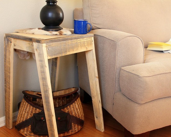 Reclaimed Wood Side Table - Side Table (Collins Collection)