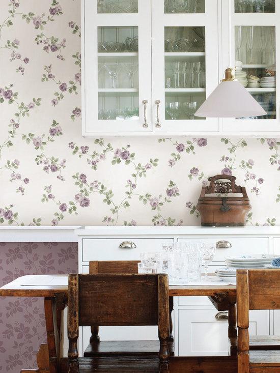 Cornelia Purple Rose Trail Brewster Wallpaper -