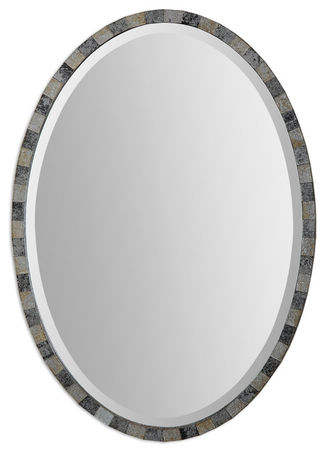 Paredes Oval Mosaic Mirror traditional-wall-mirrors
