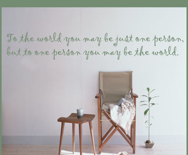 To the world Vinyl Wall Decal businessquotes30, Black, 8 in. contemporary-wall-decals
