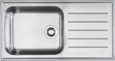 BOHOLMEN 1 bowl inset sink with drainer modern kitchen sinks