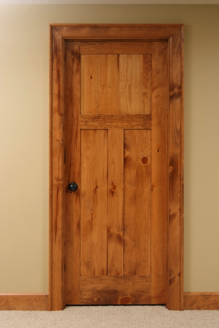 Knotty Pine Shaker Style Interior Door - Contemporary - Interior Doors - other metro - by Baird ...