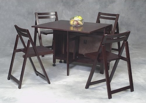 Space Saver 5 Piece Table And Chair Set: Space Saver 5 Piece Dining set,Space Saver 5 Piece Dining set   Modern   Dining Sets