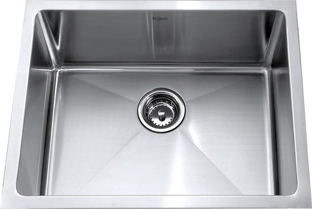 Undermount Stainless Steel Sink Single Bowl : KHU101-23 23 inch Undermount Single Bowl 16 gauge Stainless Steel Sink ...