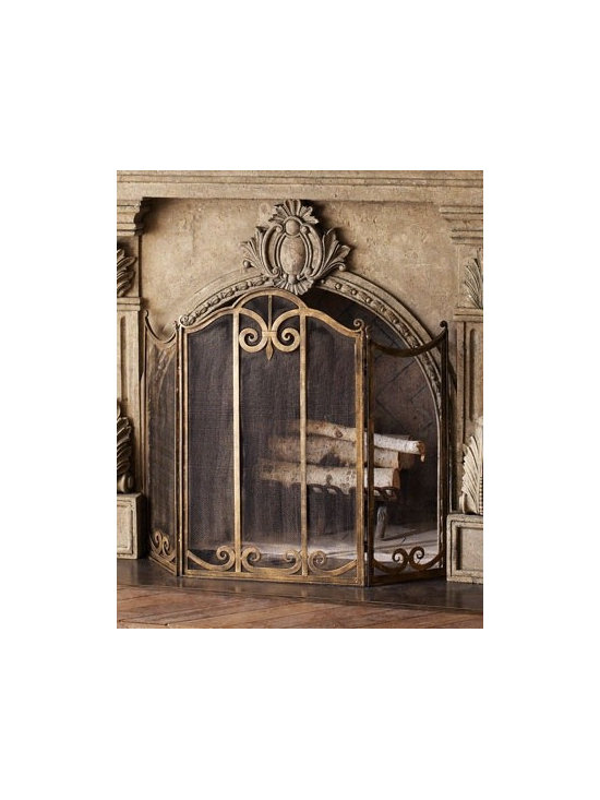 Classic Fireplace Screen - •Handcrafted of iron.