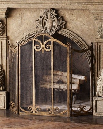 Classic Fireplace Screen Traditional Fireplace Accessories By Horchow