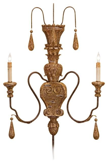 Currey and Company Mansion Plug-in Wall Sconce traditional-wall-sconces