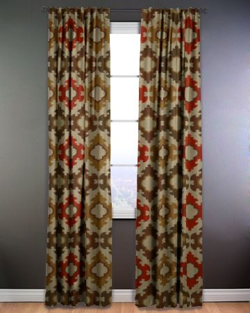 Deco Medallion Hidden Tab Panels eclectic curtains