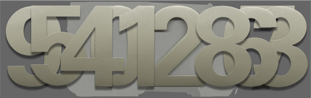 Houseart Bfuller Font 6 Inch Stainless Steel Numbers