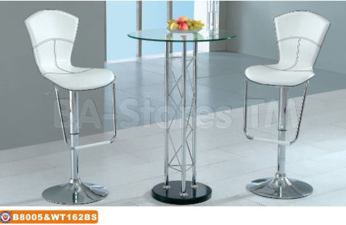 Modern Bar Set High Bar Table with Glass Top and Two  : contemporary bar stools and counter stools from www.houzz.com size 500 x 326 jpeg 38kB