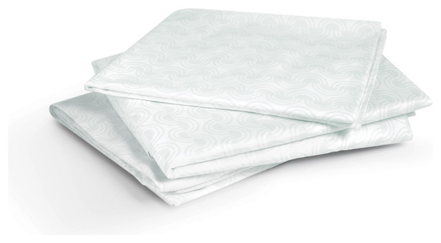 Inhabit Tidal Full/Queen Flat Sheet modern sheet sets