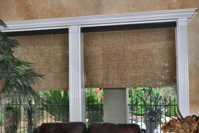 Solar Vue Motorized Shades Mediterranean Roller Shades Austin By Distinctive Window Designs