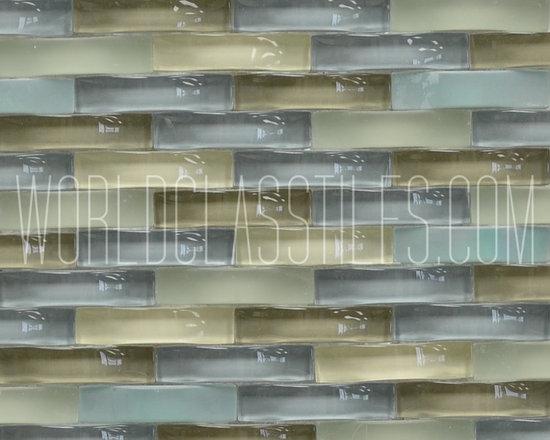 Ripple Glass Mosaic Tiles -