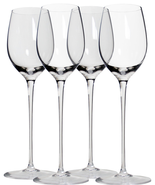 Classic Long Stem Wine Glasses White Wine Set Of 4