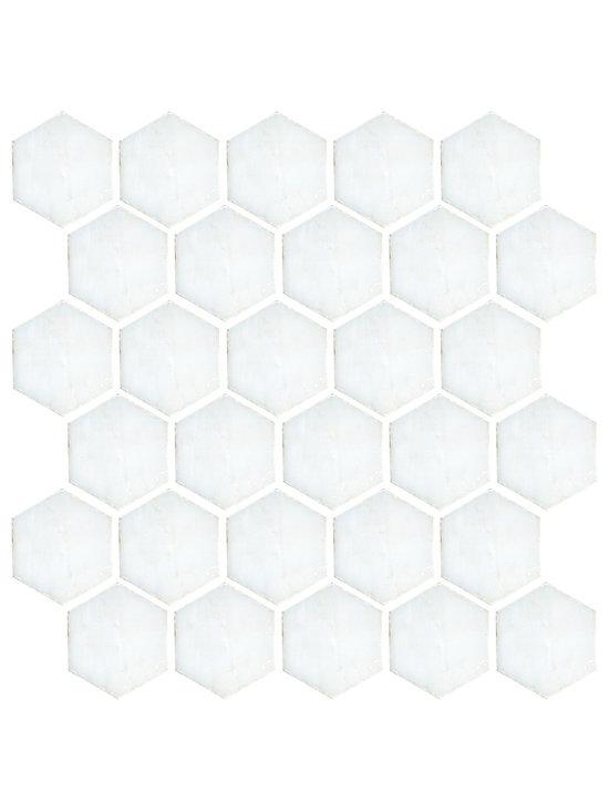 """Landsdale Carrara Mosaic 2"""" Hex Tile -"""