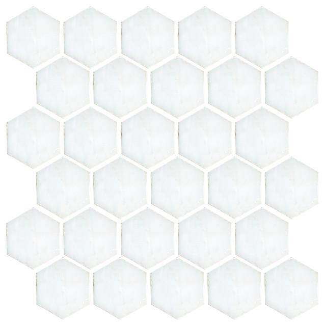 "Landsdale Carrara Mosaic 2"" Hex Tile traditional-tile"
