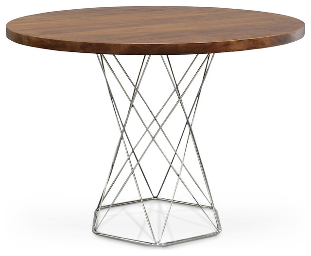Modern Solid Wood Round Dining Bistro Table Transitional Dining Tables
