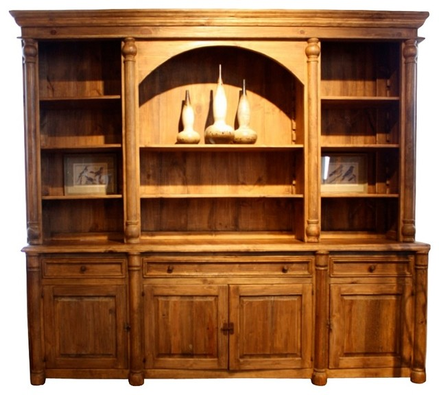 Reclaimed Library Wall Unit Amazing Worm Wood - Farmhouse - Bookcases - by Silver Coast Company