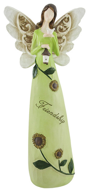 Charming 'Friendship' Sunflower Fairy Figure contemporary-statues-and-figurines