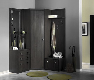 Alice Corner Hall Unit in Oak Ferrara - Contemporary - Display And Wall Shelves - new york - by ...